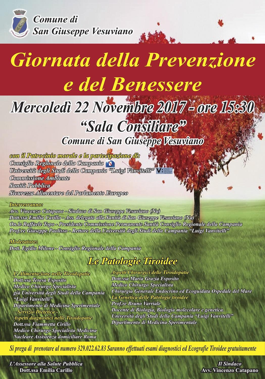 Giornata Della Prevenzione E Del Benessere Mercoledi 22 Al Comune Di San Giusseppe Vesuviano Gazzetta Di Napoli