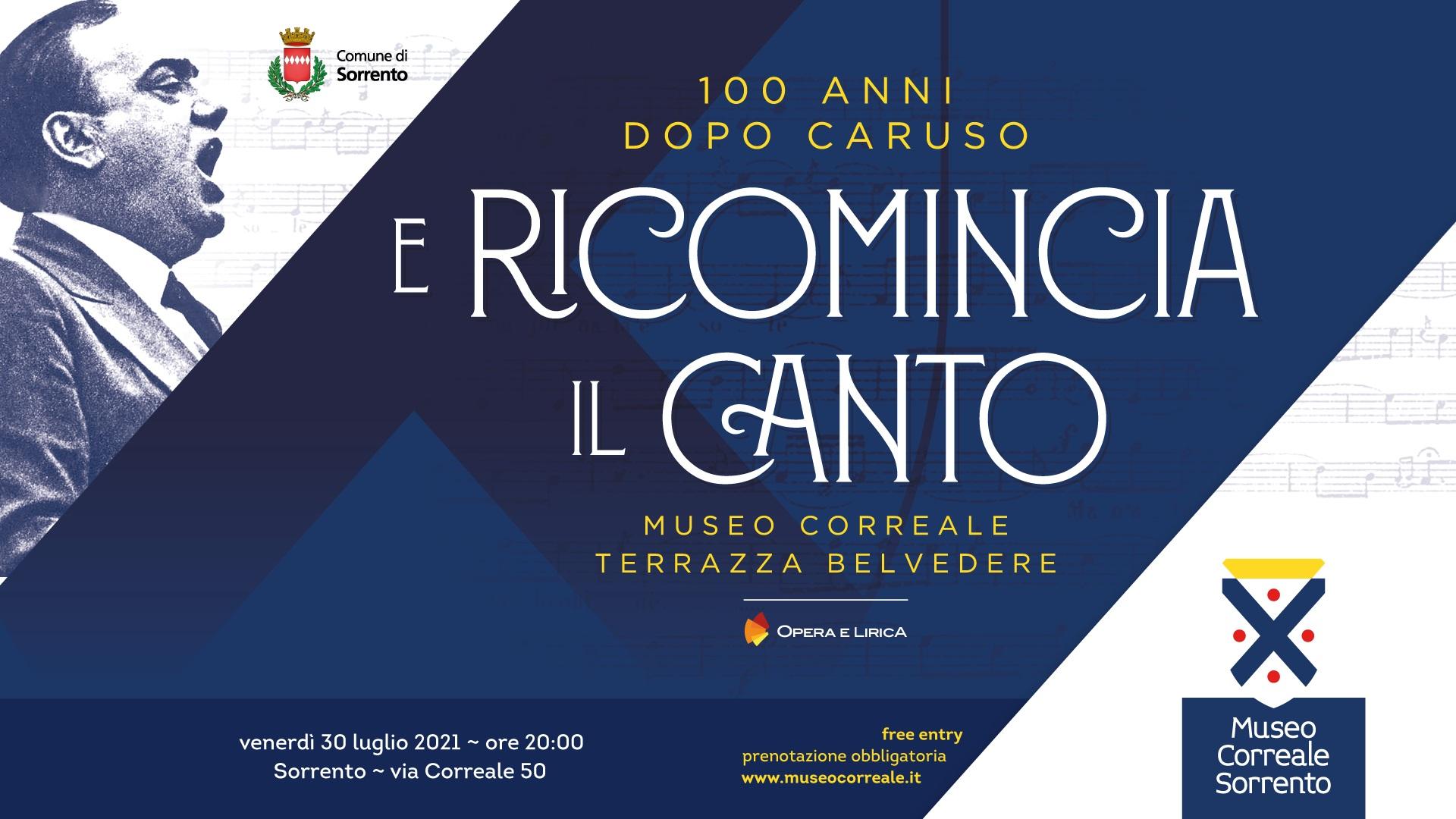 Concerto in memoria di Enrico Caruso venerdì 30 al Museo Correale di  Sorrento. - Gazzetta di Napoli